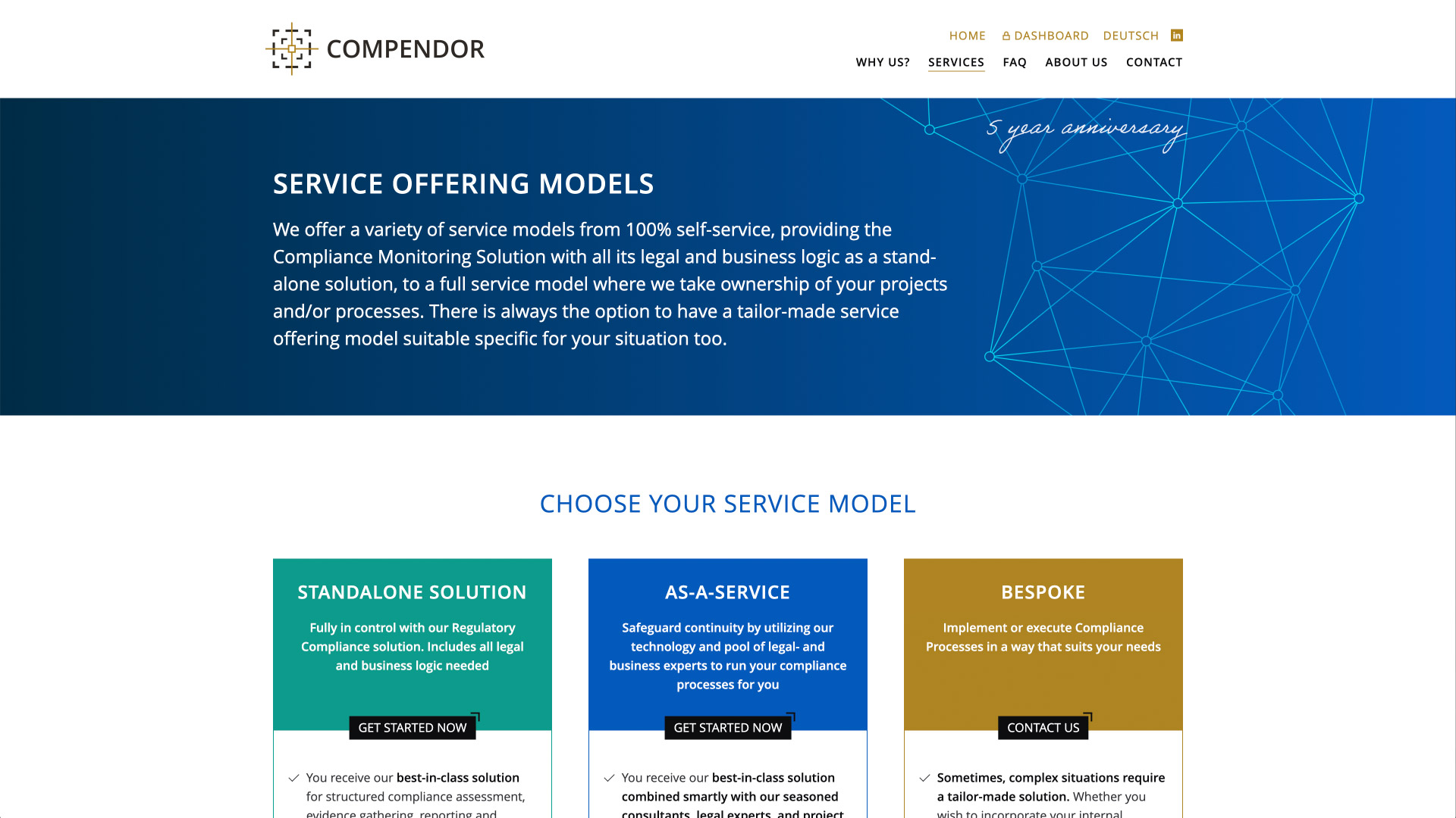 Website for Compendor / 4