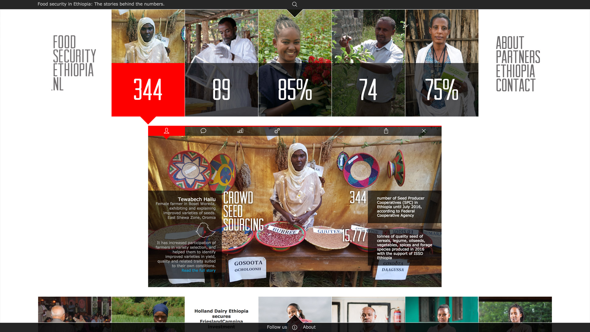 Website development for Food Security Ethiopia / 3