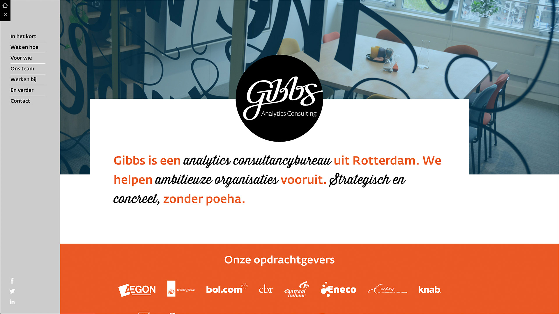 Website for Gibbs / 1