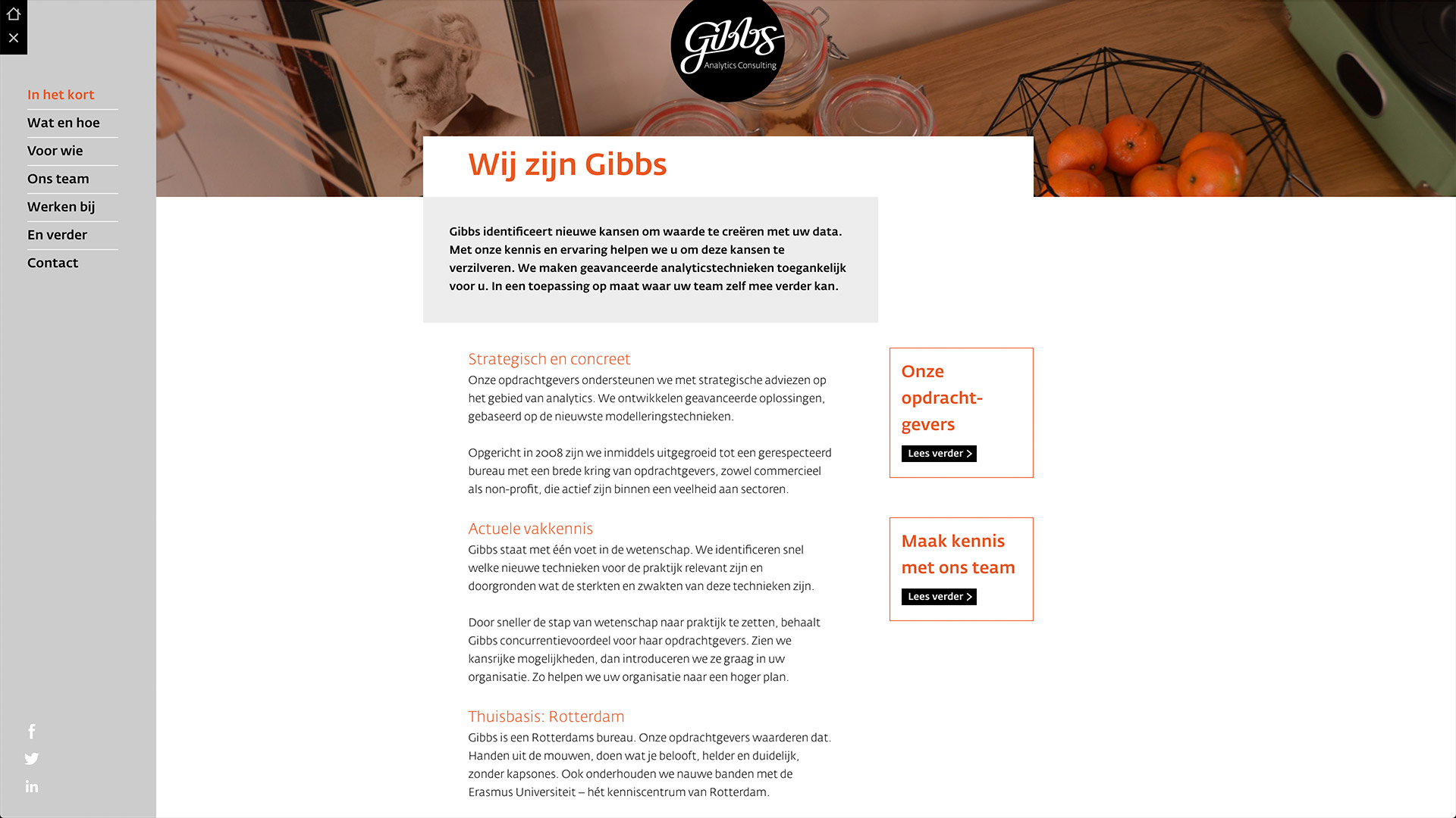 Website for Gibbs / 2