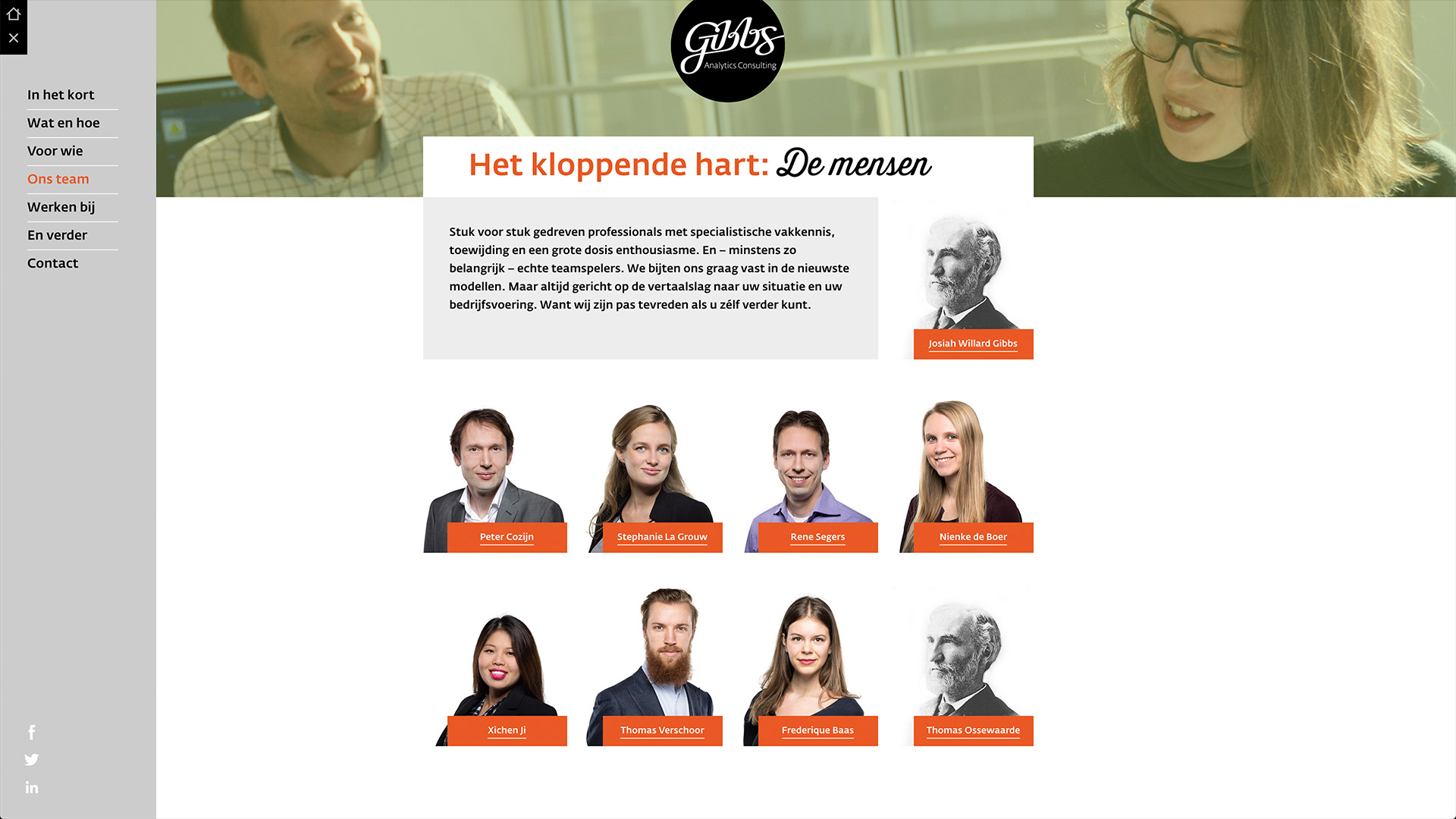 Website for Gibbs / 3
