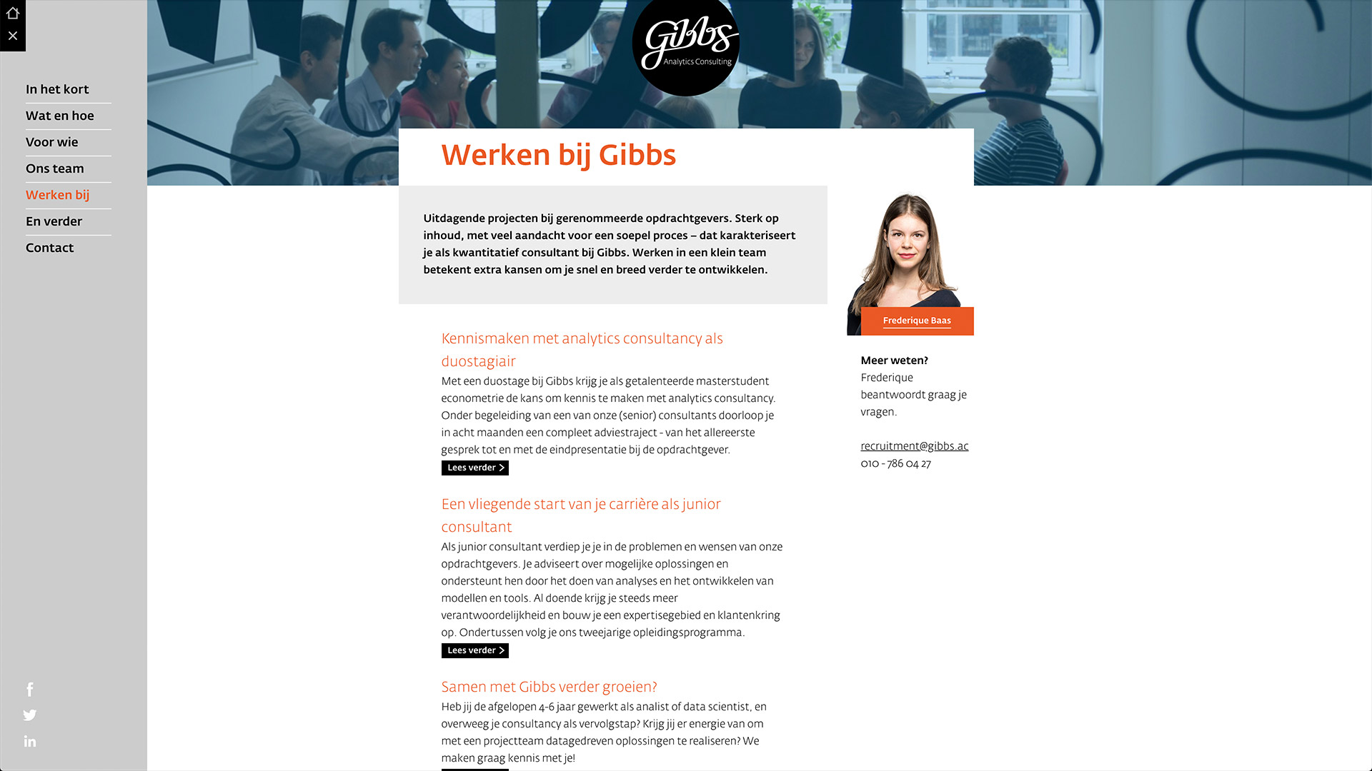 Website for Gibbs / 5