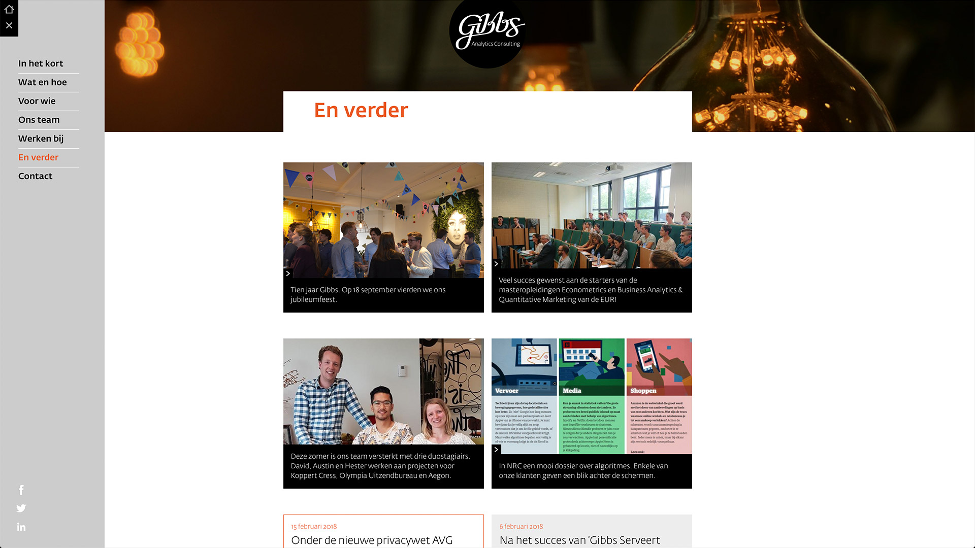 Website for Gibbs / 6