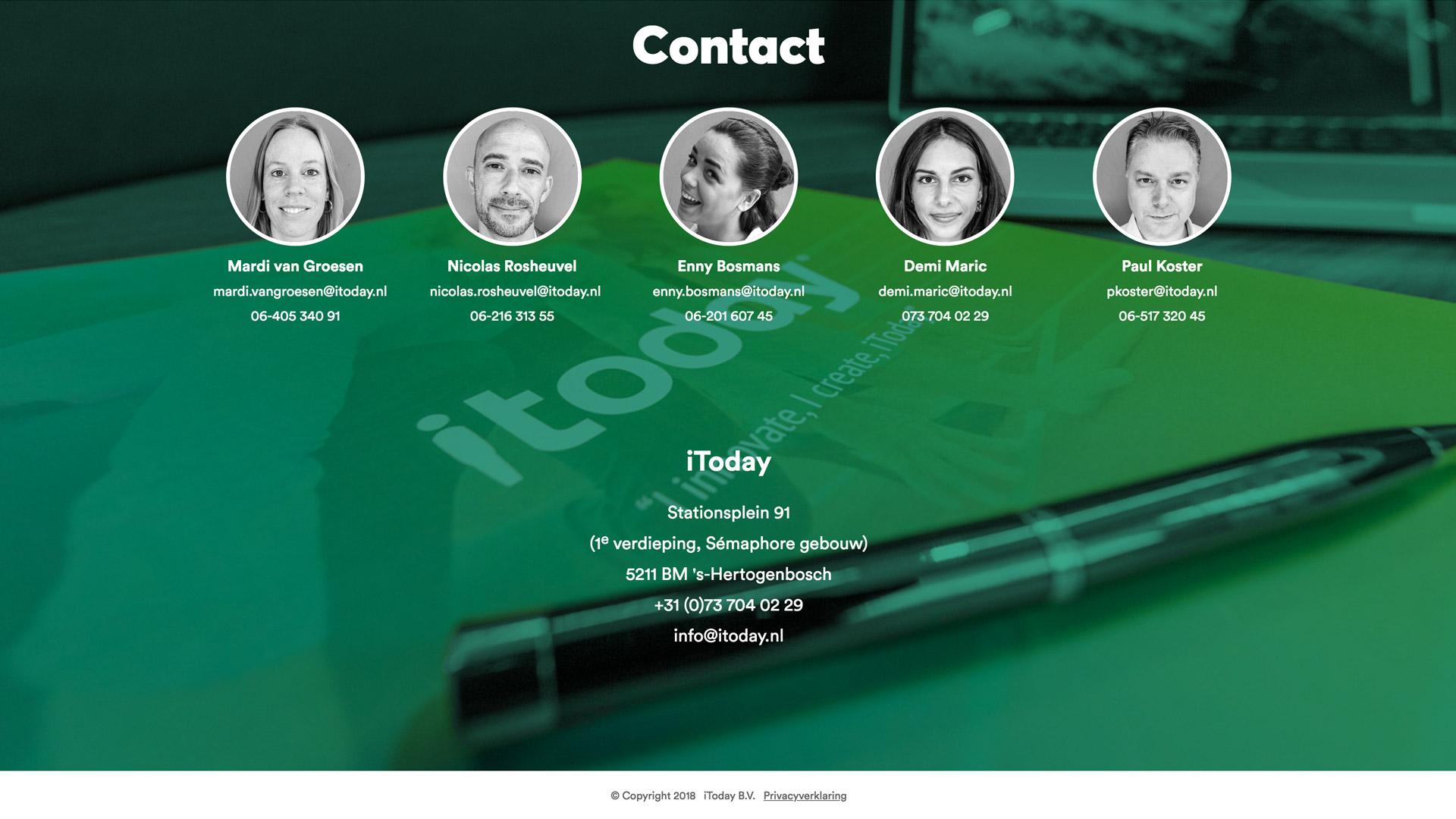 Website ontwikkeling voor iToday / 6