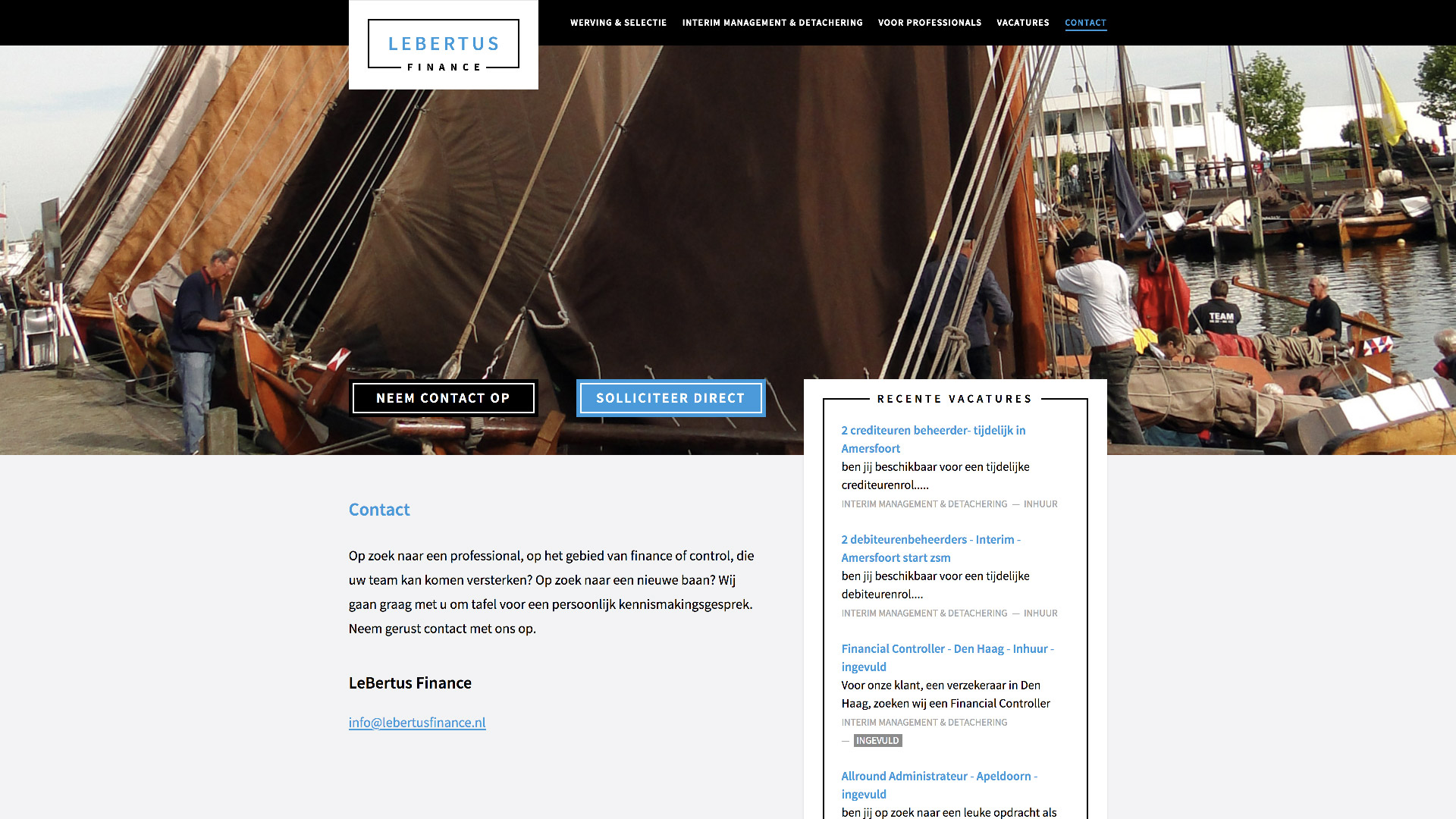 Website voor LeBertus Finance / 1