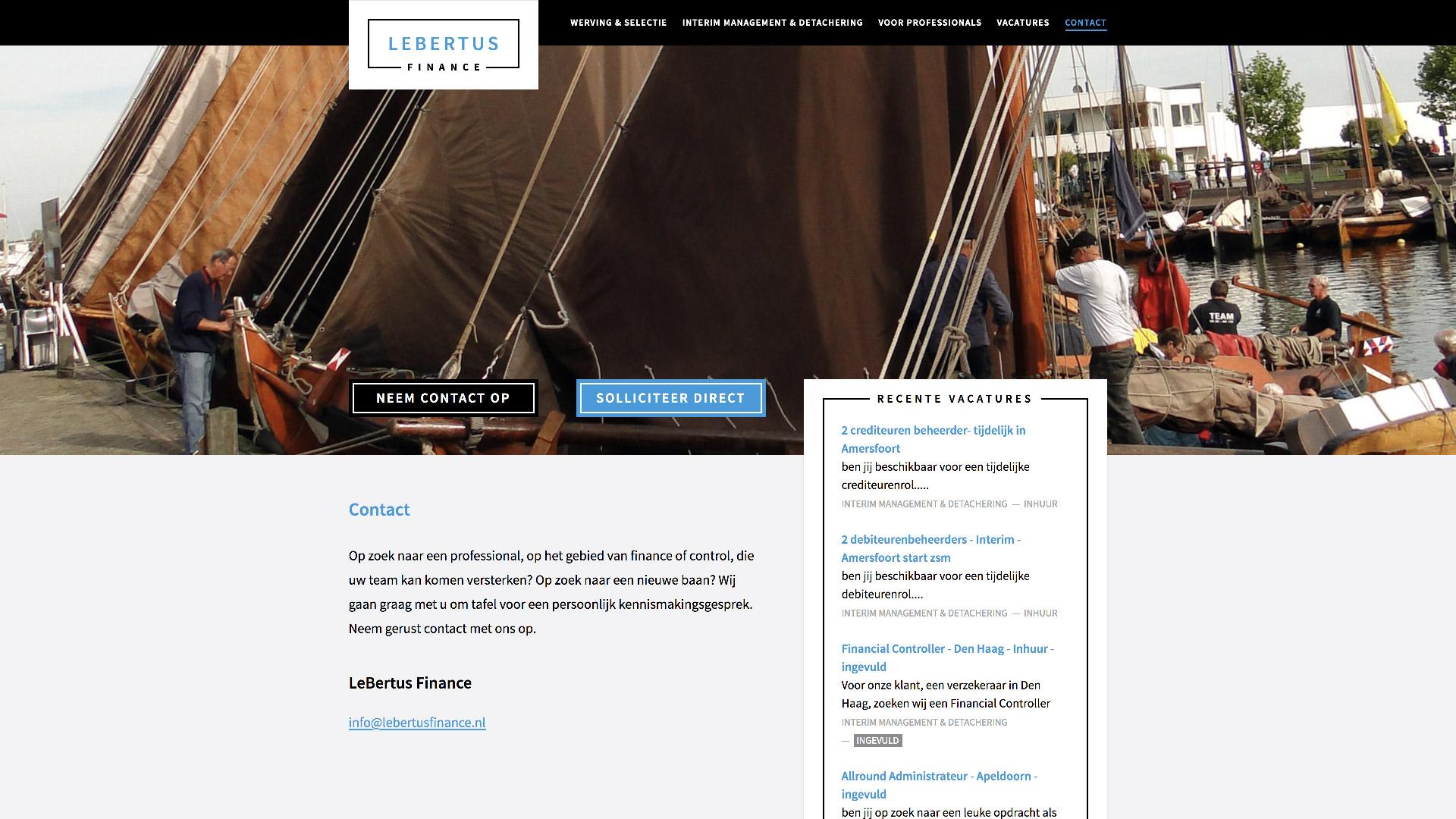 Website for LeBertus Finance / 1
