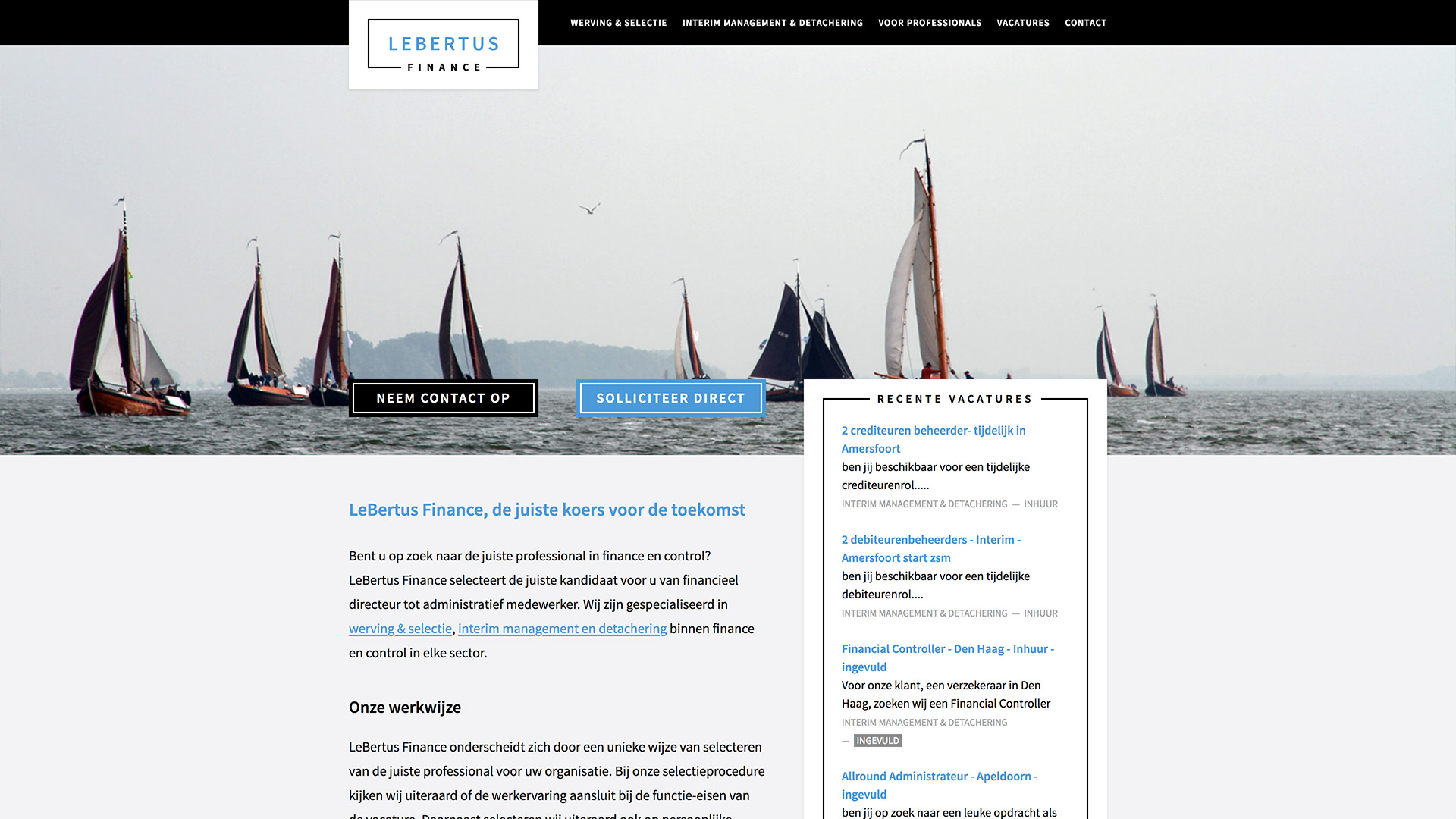 Website voor LeBertus Finance / 2