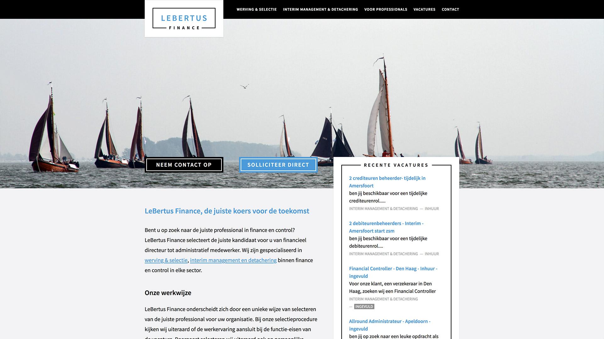 Website for LeBertus Finance / 2