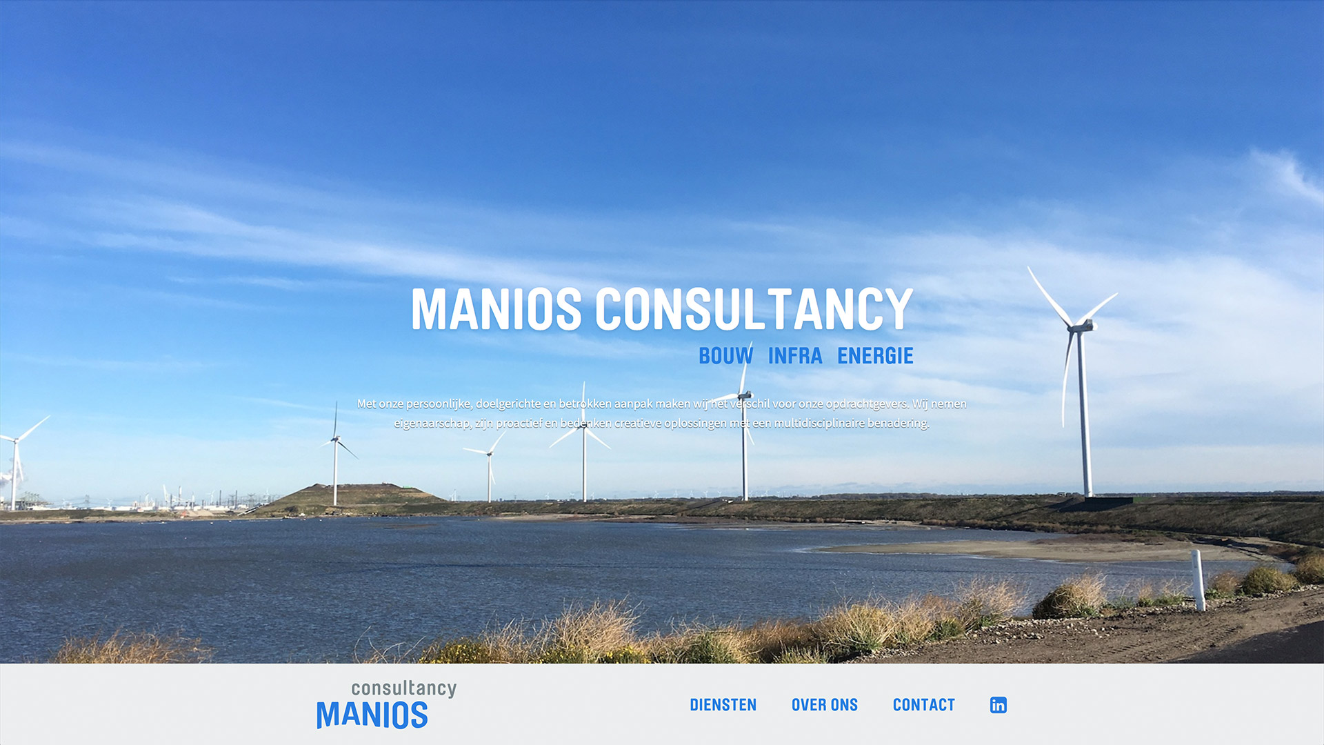Website for Manios Consultancy / 1