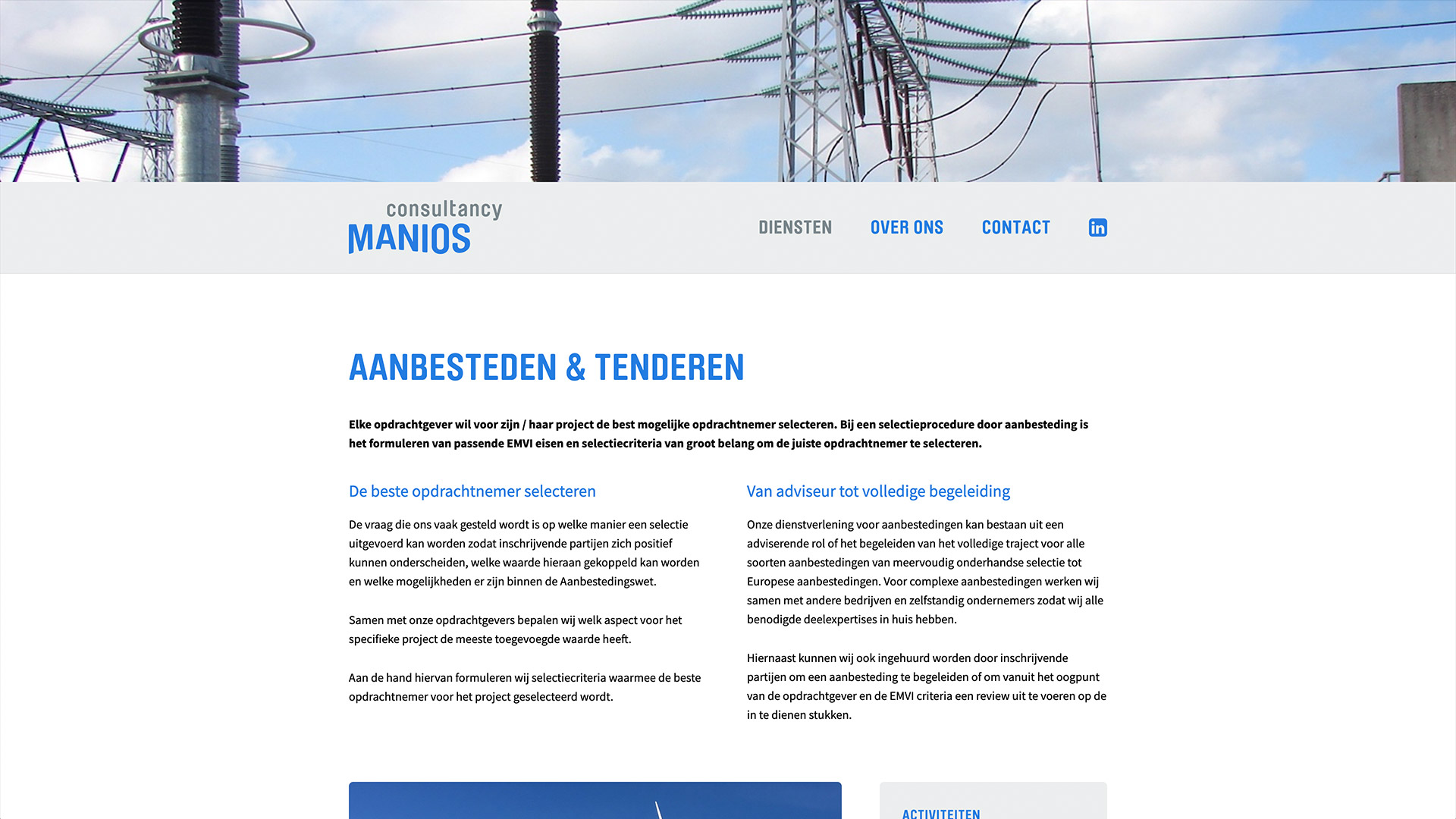 Website voor Manios Consultancy / 3