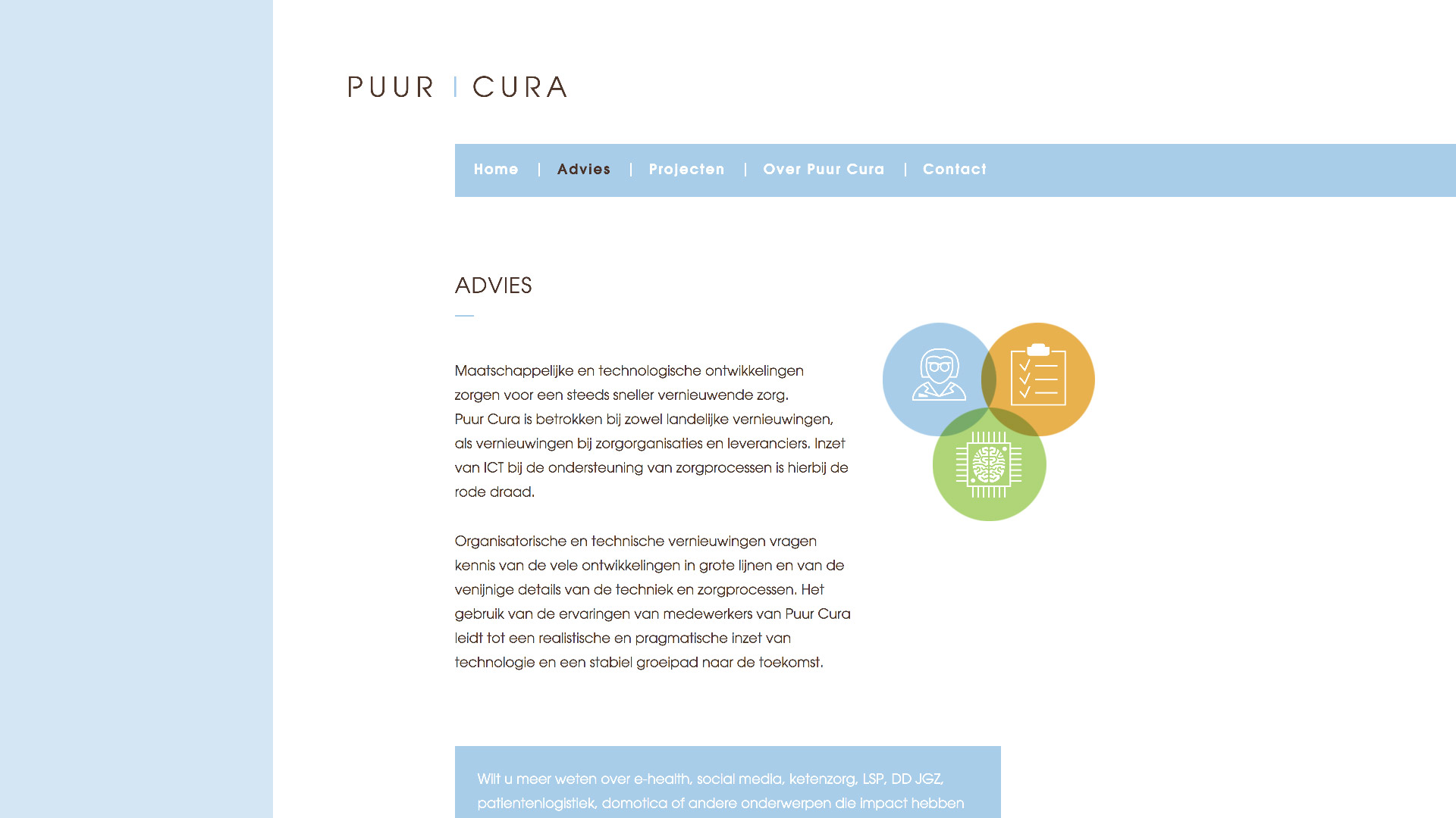 Website for Puur Cura / 2
