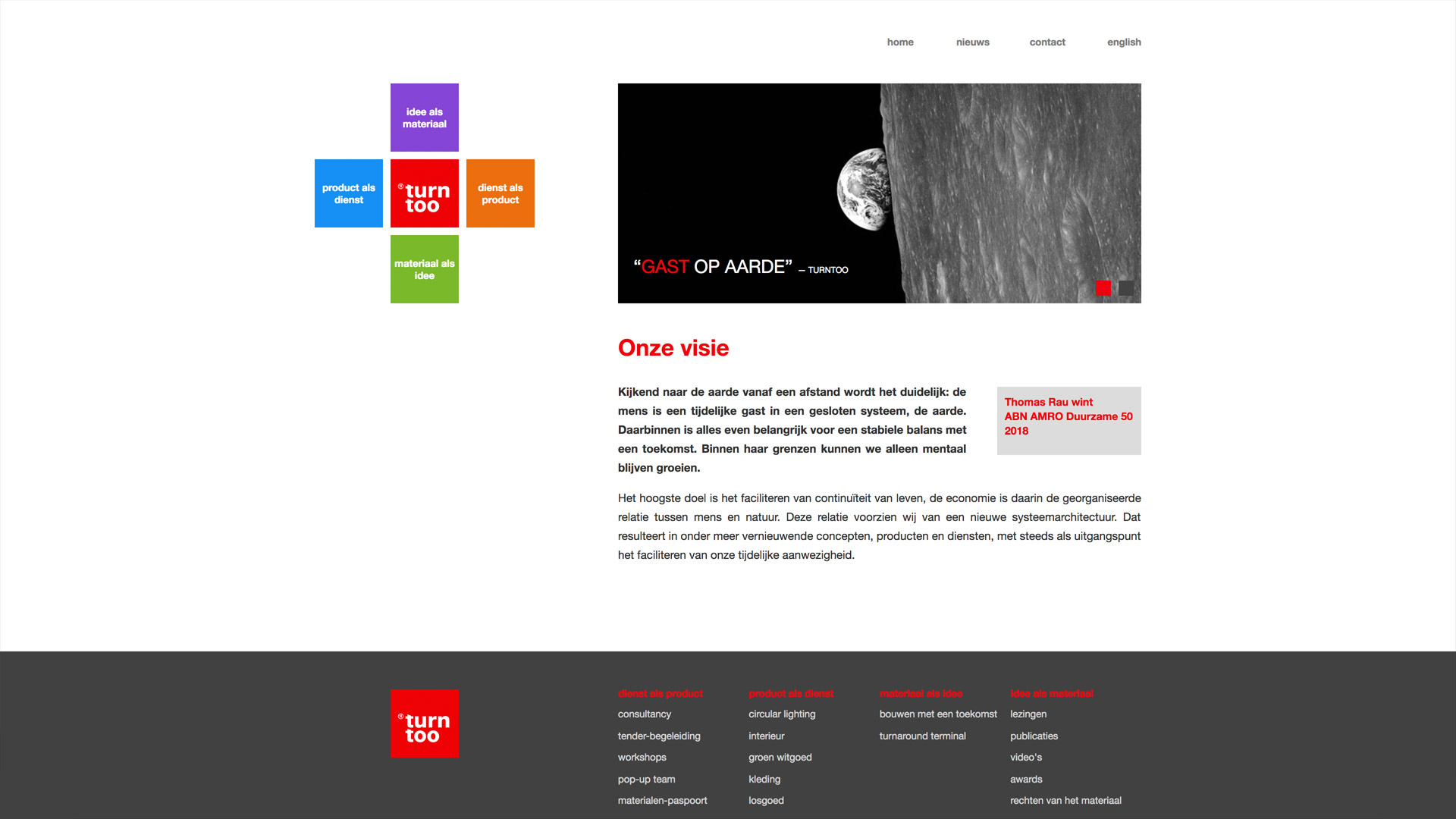 Website voor Turntoo / 1