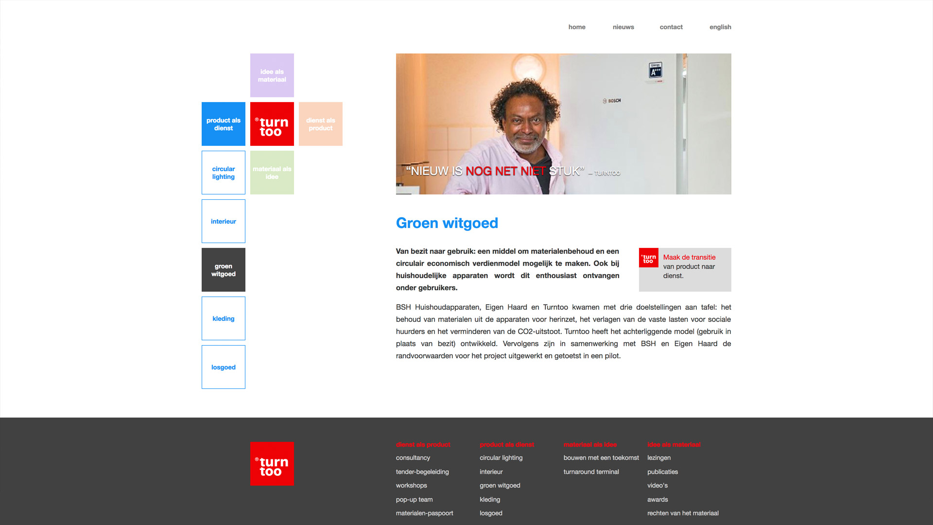 Website voor Turntoo / 3