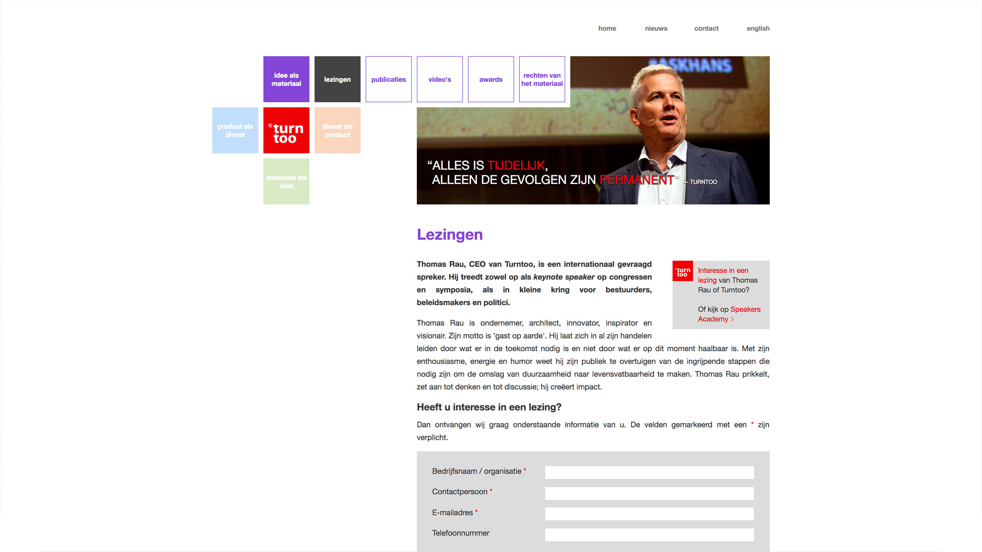 Website voor Turntoo / 5
