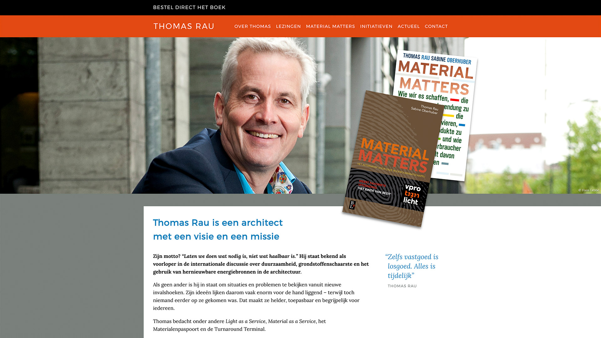 Website for Thomas Rau / 1